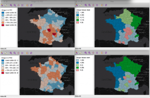 Developed by Dr. Luc Anselin and his team, GeoDa is a free and open source software tool that serves as an introduction to spatial data analysis serving now more than 275,000 users.